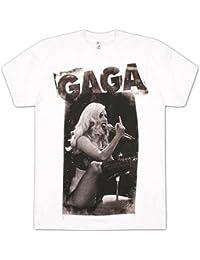Lady Gaga - - Herren-Finger-T-Shirt in Weiß