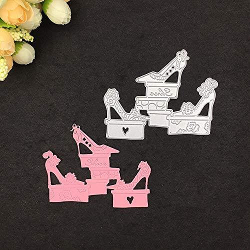 Qinpin Stanzschablone aus Metall für DIY Scrapbooking Album Papier Karte Dekoration Basteln Kostenlose Lieferung, Karbonstahl, D, Einheitsgröße