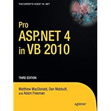 Pro ASP.NET 4 in VB 2010 (Expert's Voice in .NET) by Matthew MacDonald (2010-11-23)