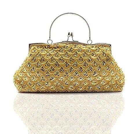 sac à main perlé/Sacs de soirée/ perlé pochette/Ladies ethniques vintage-D