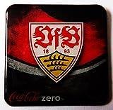Coca Cola Zero - Fußballvereine - VfB Stuttgart - Kühlschrankmagnet 6 x 6 cm