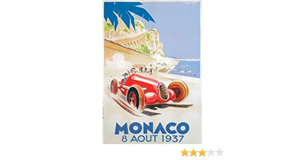 AV33 Vintage 1932 Monaco Grand Prix Motor Racing Advertisment Poster Re-Print A4