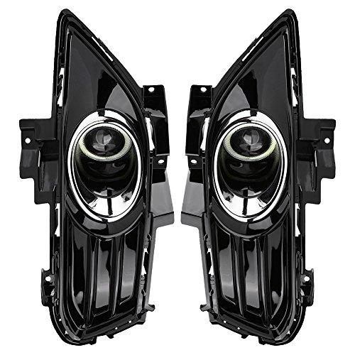 Qiilu Auto Frontstoßstange Nebelscheinwerfer Grille Nebelscheinwerfer Lampe Set für Ford Mondeo 2013-2016