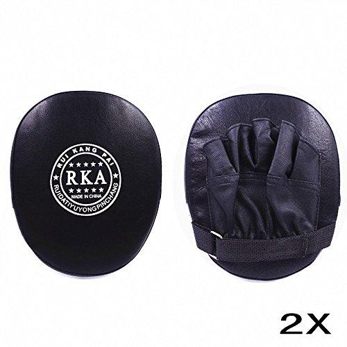 JZK Boxen Training Pad Kick Pratze Boxpratze mit Handschuh, für Muay Thai Kickboxen Karate...