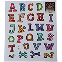 SODIAL(R) Luminoso fluorescente del muro Adesivi Glow in the Dark Stars decorazione della casa eco-friendly Cartoon Sticker murale in PVC per bambini Camere -lettera