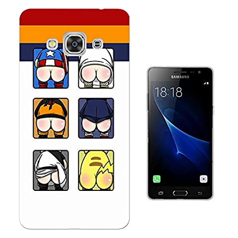 003234 - Funny super hero bottoms ass Design Samsung Galaxy J3 Pro 5.0