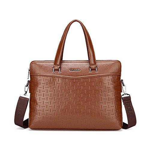 Männer Schultertasche Kreuz Abschnitt High Grade Handtasche Classic Stone Pattern Business Bag Computer Tasche I