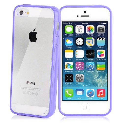 iPhone 5 / 5S Ultra-Slim Hülle schwarz lila