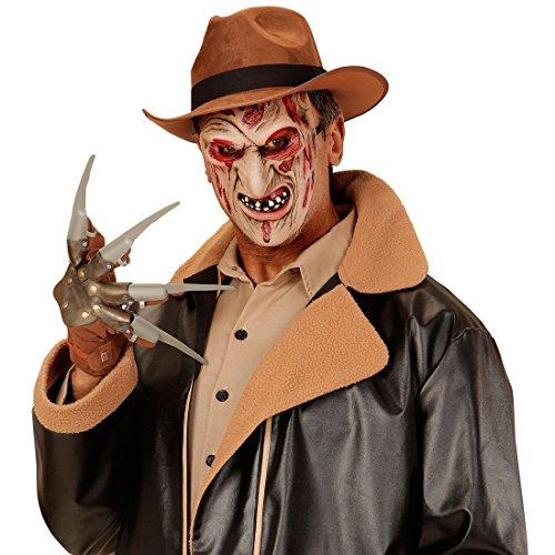 Amakando Killer Monstermaske Monster Halloweenmaske Horror Zombiemaske Halloween Freddy Krüger Zombie Maske Karneval Kostüm Accessoires Grusel Faschingsmaske Untoter Horrormaske Bestie (Killer Zombie Kostüm)
