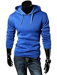COCO clothing Sudaderas con Capucha Hombre Hoodie Casual Pullover Sweatshirt Deportivas Juvenil Suéter Color Sólido Chaquetas