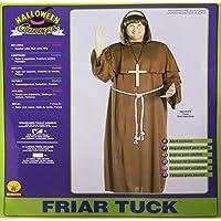 Frate Tuck costume monaco. Formato standard per adulti. Petto dimensioni 38-42. Parrucca, accappatoio e cintura.