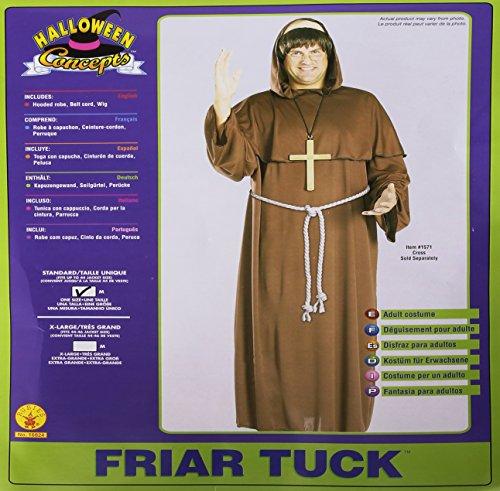 Rubie's Friar Tuck Mönch Kostüm. Erwachsene Größe Standard. Brustumfang 38-42. Perücke, Kleid und ()