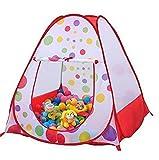 LOBTY Beweglicher Hexagon Kinder Baby Bällebad Ballpool Pool Bällepool Drinnen und draußen , Kinder Spielzeug Spiel Zelt für Kindergeschenke inklusive 100pcs 5.5cm