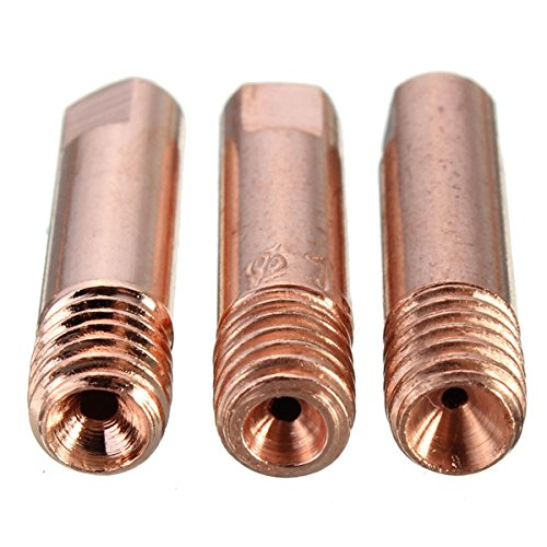 KUNSE 10 STK. Mb-15Ak M6 Mig/Mag Schweissbrenner Kontaktspitze Gasdüse 0.8/1.0/1.2 Mm-1.2 Mm