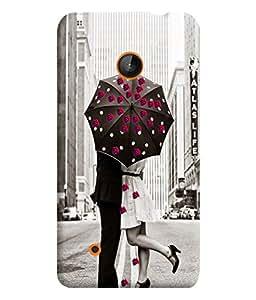 PrintVisa Romantic Love Couple Road 3D Hard Polycarbonate Designer Back Case Cover for Nokia Lumia 530