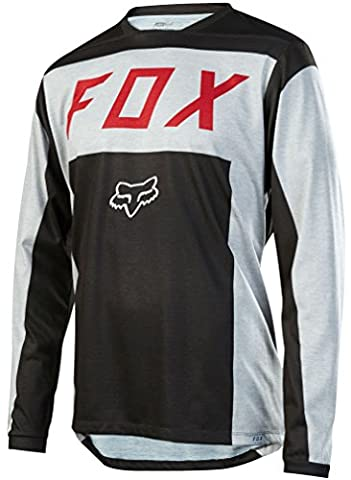 Fox Indicator Moth LS Jersey - Grey, Medium / Long Sleeved Sleeve Bicycle Cycling Cycle MTB Mountain Biking Bike Off Road Riding Ride Dirt Jump Trail Enduro Man Men Adult Unisex Shirt Top T Tee Clothing Clothes Upper Body Apparel Attire Bikewear Wear Gear Kit Accessories All Weather Season Summer Winter MotoX MX Moto Motocross Breathable Pro Aero Team Downhill Freeride Cross Country DH FR XC Sport Outdoor Comfortable Comfort Comfy Relaxed Baggy Loose Fitting Fit