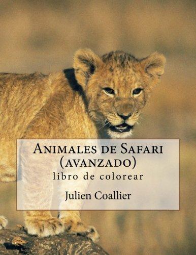Animales de Safari (avanzado): libro de colorear par Julien Coallier