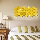 GYMNLJY-Pegatinas-de-pared-Caja-hexagonal-tridimensional-espejo-pared-calcomanas-para-decoracin-de-fondo-de-sala-espejo-pegatinas-pared-DecorIt-encompasses-12-small-pieces