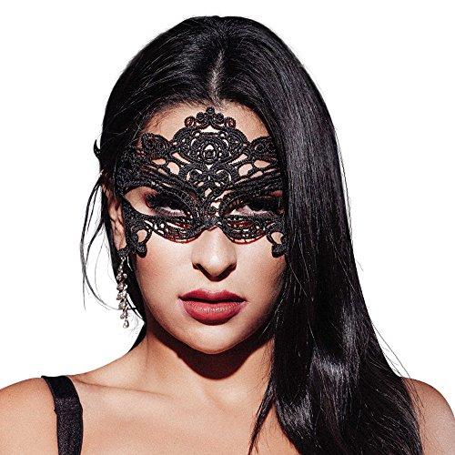AIYUE Spitzenmaske Venetianische Maske Damen Spitze Maske Maskerade Gesichtsmaske für Karneval Fasching Verkleidung Kostüm Halloween Party Masquerade (Damen Maskerade Kostüm)