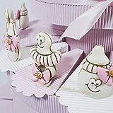 Torta bomboniera Bimba Ciuccio e biberon per Nascita Battesimo e Primo Compleanno (1 Fetta Fuori Struttura) *