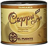 El Puente Cappu cacao, Instant-Cappuccino mit Kakao und Rohrohrzucker,4er Pack