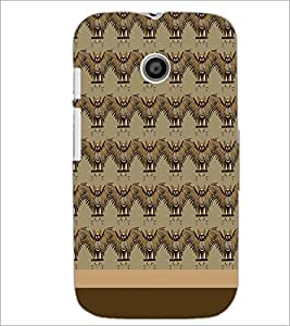 MOTOROLA MOTO E BIRDS PATTERN Designer Back Cover Case By PRINTSWAG