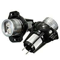 KATUR 2x 12V LED Headlight Angel Eyes Halo Rings Bulb Lamp Red Light for BMWE90 E91