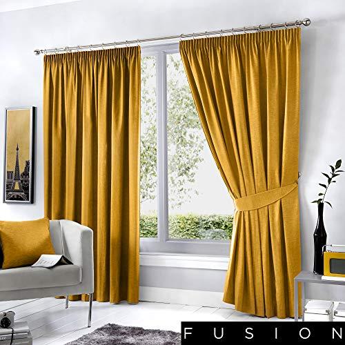 Fusion dijon - tende oscuranti plissettate, 117 x 137 cm, colore: ocra