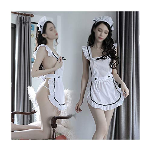 WEATLY Sexy Dessous Frauen Sexy Transparent Uniform Versuchung Cute Cute Maid Kostüm Set (Exotische Göttin Sexy Kostüm)