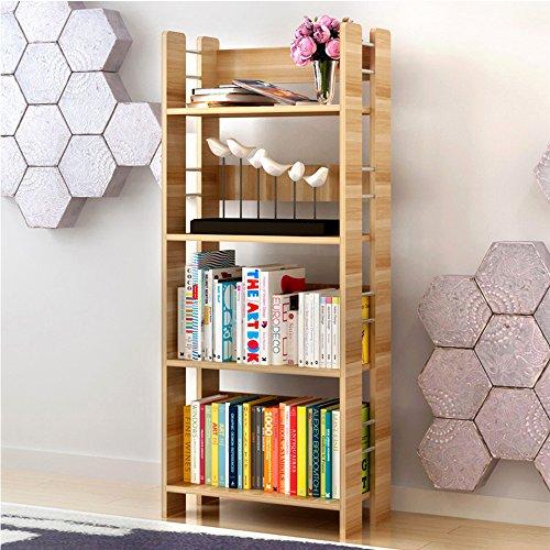 Home & Style 4-stöckiges Bücherregal aus Holz Büroregal 50*26*120cm Standard-bücherregal
