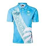 T-Shirt Rugby,Maillot Fidji De Rugby,Maillot ExtéRieur,T-Shirt Casual pour Homme, T-Shirt Casual, VêTements De Football Sportswear, Bleu Ciel,XL