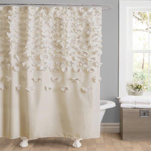 Lush Decor Lucia Vorhang für die Dusche, elfenbeinfarben, 72 x 72 in.