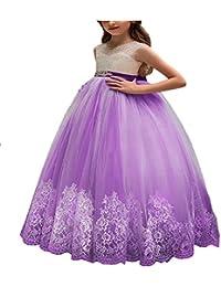 ChenYongPing Costume de Ballet pour Enfants Jupe sans Manches Taille Haute pour  Enfants en Dentelle Belle 7f7358042ca