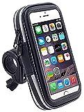 Daorier 1× Support Téléphone Moto Support Téléphone Vélo Bike Mount Universel Support Fixation Guidon 5,5 Pouces Sacoche Etanche Avec Support Vélo pour iPhone 7 Plus 8 Plus Samsung S7 S8