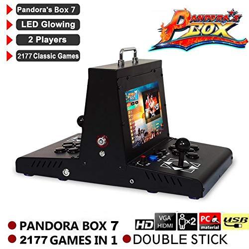 Ksruee 10 Zoll Pandora's Box 3D Double Display Arcade Videospiele Konsole 2177 Spiele N64 PS1 (Nintendo 64 Spiele Für Kinder)