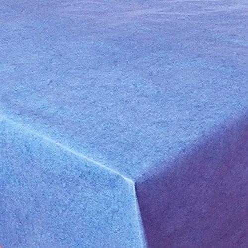 Wachstuch UNI Blau marmoriert · Eckig 130x210 cm · Länge & Farbe wählbar LFGB · abwaschbare...