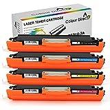 4 X Colour Direct CE310A CE311A CE312A CE313A 126A Kompatibel Laser Toner Patronen Ersatz für HP Colour Laserjet CP1025 CP1025NW CP1020 M175a M175nw Pro 100 M175 MFP M175A M175NW M275 TopShot M275