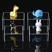 4 Pieces Clear Acrylic Display Risers, Jewelry Display Riser Stand Showcase Tools