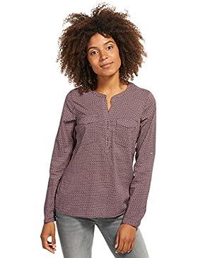 Tom Tailor für Frauen Shirt / Blouse gemusterte Bluse mit Brusttaschen