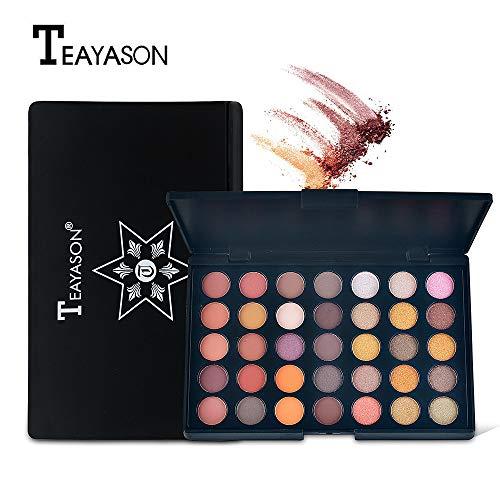 htfrgeds 35 Color Shimmer Matte Lidschatten Lidschatten-Palette Pro Kosmetik-Make-up-Tool