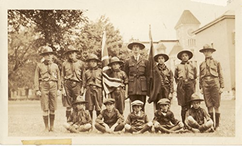 poster-scout-troupe-leader-park-centre-deseronto-ontario-behind-them-town-hall-time-bank-montreal-po