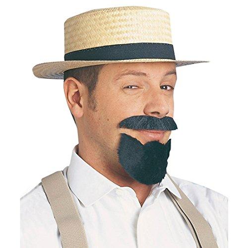 NET TOYS Strohhut Kreissäge rund Sommerhut Sonnenhut Stroh Hut Kopfbedeckung Herrenhut Sommer Karneval Männerhut Zubehör