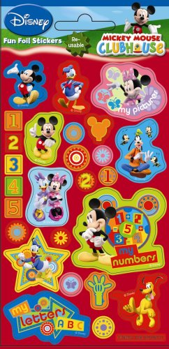 Mickey Mouse Clubhouse  Disney  - Fun Foiled Stickers  Reuseable
