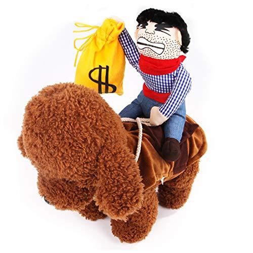 YY1 Weihnachten Kostüme Haustier Kostüm Hund Haustiere Anzug Haustiere Kleidung für kleine Hunde und Katzen (Color : Money bag, Size : ()