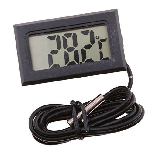 LCD Digitales Drahtlose Wasser Thermometer Elektronisches Bauteil -50 ° C ~ 110 ° C - Schwarz