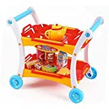 "Afternoon Tea Time Trolley Cart Pretend Play Set For Tea Party (23 Pieces) Measures 17"" X 13"" X 20""."