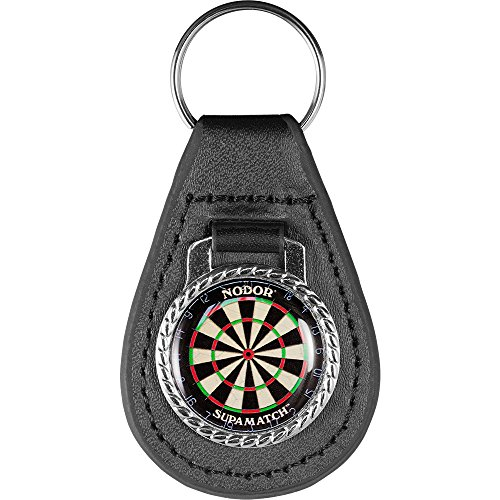 Darts Zubehör-Schlüsselanhänger-Qualität Leder schwarz Schlüsselanhänger-Dartscheibe