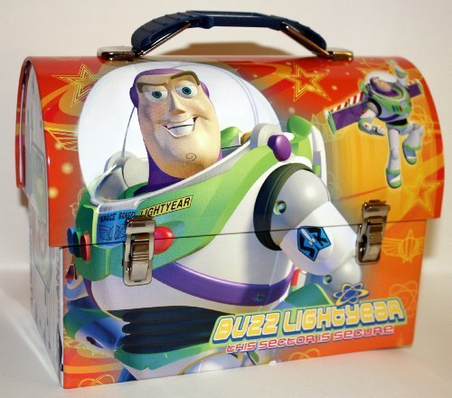 Collectable Toy Story Buzz Lightyear Tin Dome Lunch Box Workmans Carry All Lunchbox by The Tin Box Company
