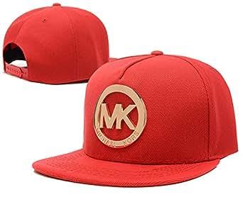 Michael Kors MK / snapback caps (rouge avec logo en métal)
