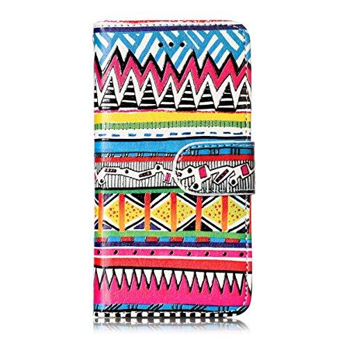 Gelusuk Samsung Galaxy S8 Plus Leder Hülle,S8 Plus Case,Retro Muster Design PU Leder Flip Cover Wallet mit Standfunktion Kartenfächer 2 in 1 Bookcase Tasche Etui Bumper HandyHülle-Streifen